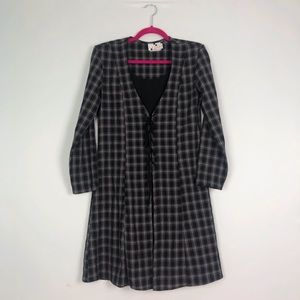 VTG 90's Grunge Long Sleeve Lace Up Dress 6/7